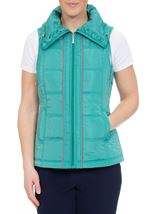 Anna Rose Ruched Collar Gilet Ocean - Gallery Image 2
