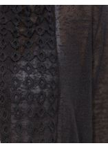 Long Sleeve Lace Trimmed Open Cardigan Black - Gallery Image 4