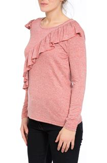 Long Sleeve Lightweight Frill Knit Top