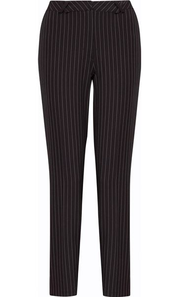 Pinstripe Narrow Leg Trousers Black/White