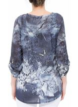 Embellished Floral Lightweight Tunic Midnight/Peach - Gallery Image 3