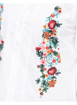 Floral Embroidered Cotton Blouse White - Gallery Image 4