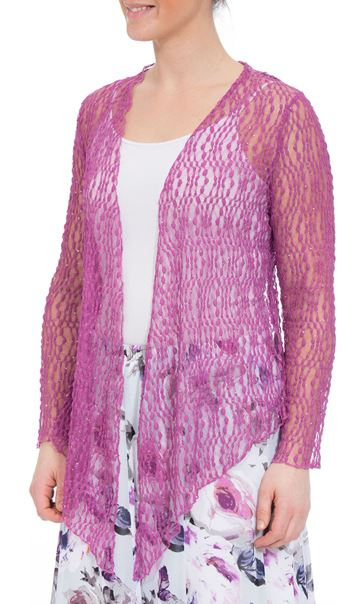 Anna Rose Sparkle Knit Tie Cover Up Mauve - Gallery Image 2