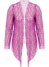 Anna Rose Sparkle Knit Tie Cover Up Mauve - Gallery Image 1