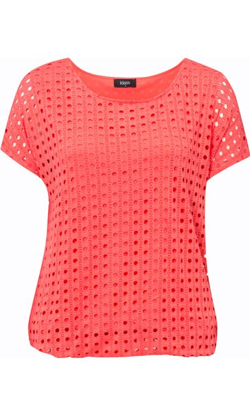 Layered Short Sleeve Top Coral