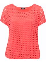 Layered Short Sleeve Top Coral - Gallery Image 1