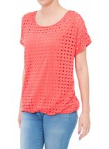 Layered Short Sleeve Top Coral - Gallery Image 2
