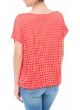 Layered Short Sleeve Top Coral - Gallery Image 3
