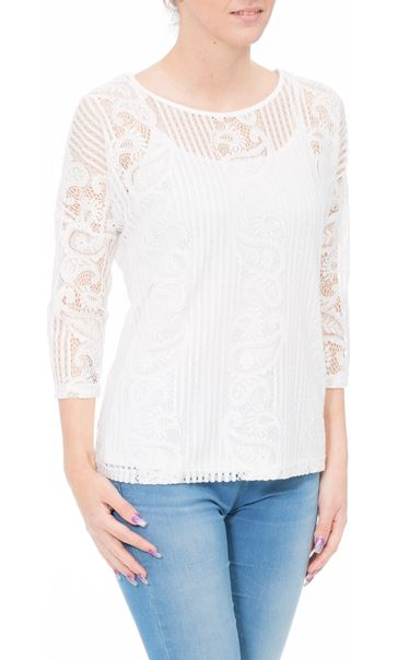 Anna Rose Lace Top With Cami Ivory