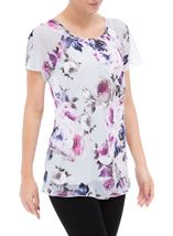 Anna Rose In Bloom Bias Cut Georgette Top Iris/Multi - Gallery Image 1