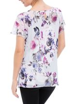 Anna Rose In Bloom Bias Cut Georgette Top Iris/Multi - Gallery Image 2