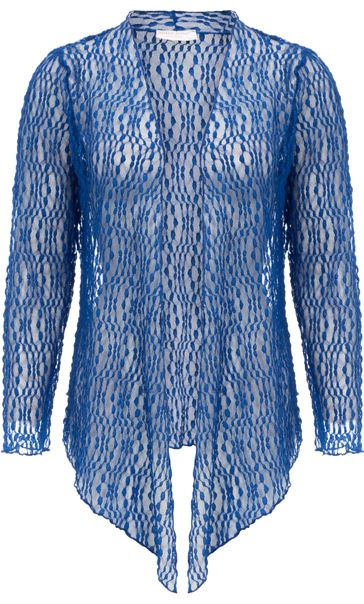 Anna Rose Sparkle Knit Tie Cover Up Cobalt