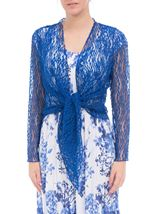 Anna Rose Sparkle Knit Tie Cover Up Cobalt - Gallery Image 2