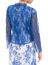 Anna Rose Sparkle Knit Tie Cover Up Cobalt - Gallery Image 3
