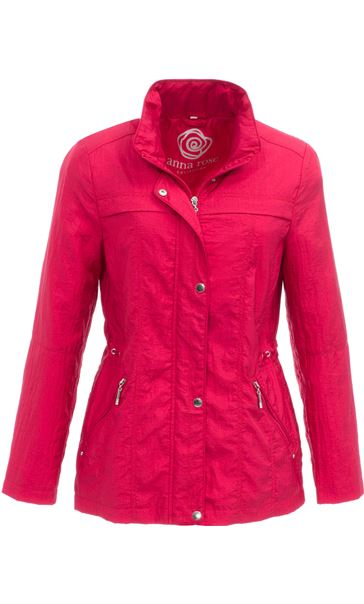 Anna Rose Lightweight Short Coat Geranium