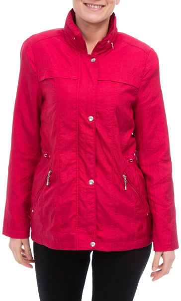 Anna Rose Lightweight Short Coat Geranium - Gallery Image 2