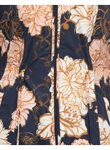 Anna Rose Lightweight Floral Coat Navy Floral - Gallery Image 4