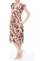 Floral Print Pleated Midi Dress Multi Pink - Gallery Image 1