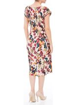 Floral Print Pleated Midi Dress Multi Pink - Gallery Image 2