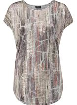 Loose fitting spangly top Multi/Lt Gold - Gallery Image 1
