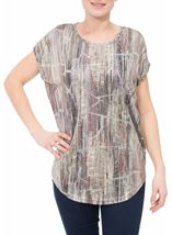 Loose fitting spangly top Multi/Lt Gold - Gallery Image 2