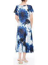 Anna Rose Bias Cut Midi Dress Cobalt/Ivory - Gallery Image 2