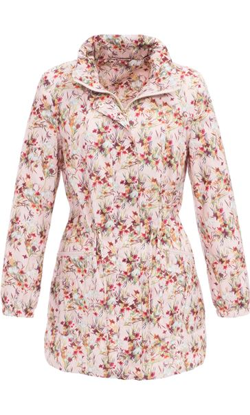 Floral Printed Lightweight Parka Meadow