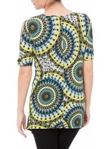 Cold Shoulder Printed Tunic Multi Green - Gallery Image 3