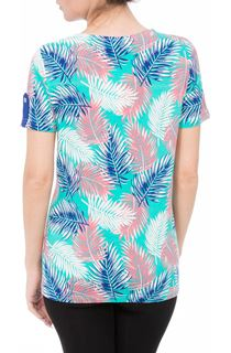 Anna Rose Leaf Print Jersey Top