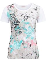 Anna Rose Printed Short Sleeve Cotton Top Multi Floral - Gallery Image 1