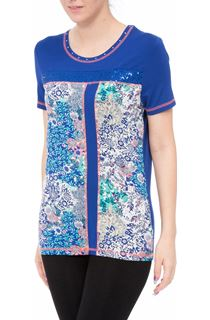 Anna Rose Floral Panelled Embellished Top