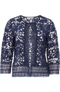 Anna Rose Lace Cover Up - Navy