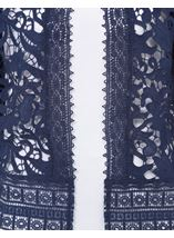 Anna Rose Lace Open Cover Up Navy - Gallery Image 4