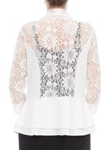 Three Quarter Sleeve Lace Trim Cover Up Ivory - Gallery Image 3