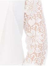 Three Quarter Sleeve Lace Trim Cover Up Ivory - Gallery Image 4