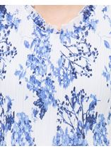 Anna Rose Floral Pleat Top White/Cobalt - Gallery Image 4