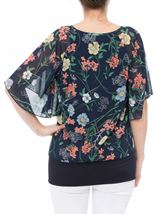 Sequin Embellished Floral Chiffon Layer Top Midnight Multi - Gallery Image 3