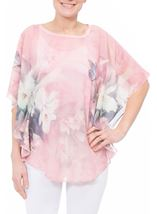 Printed Embellished Chiffon Top Blush - Gallery Image 2