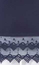 Lace Trim Sleeveless Jersey Top Navy - Gallery Image 4