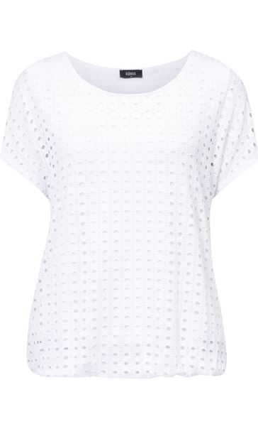 Layered Short Sleeve Top White