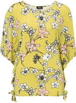 Short Sleeve Floral Printed Jersey Top Lime - Gallery Image 1