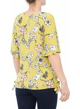 Short Sleeve Floral Printed Jersey Top Lime - Gallery Image 3