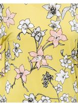 Short Sleeve Floral Printed Jersey Top Lime - Gallery Image 4