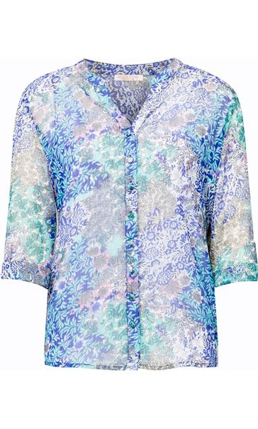 Anna Rose Floral Blouse With Cami Floral Patchwork