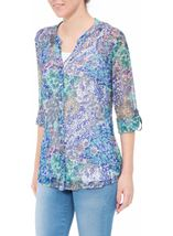 Anna Rose Floral Blouse With Cami Floral Patchwork - Gallery Image 2