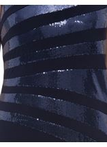 Jersey And Sequin Sleeveless Maxi Dress Midnight - Gallery Image 4