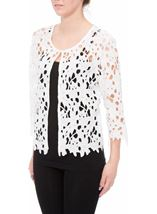 Anna Rose Crochet Lace Jacket White - Gallery Image 2