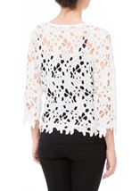 Anna Rose Crochet Lace Jacket White - Gallery Image 3