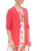 Anna Rose Diamante Jersey Cover Up Deep Coral - Gallery Image 1