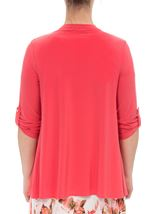 Anna Rose Diamante Jersey Cover Up Deep Coral - Gallery Image 2